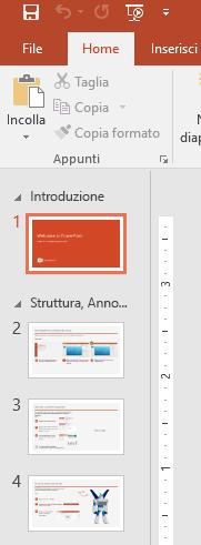 Pannello diapositiva