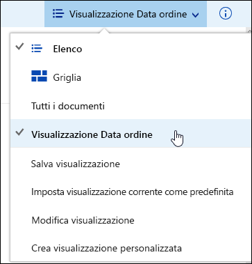 Salvare la visualizzazione Raccolta documenti personalizzata in Office 365