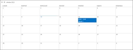 Visualizzazione Calendario
