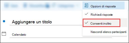 Usare la barra degli strumenti eventi per bloccare l'inoltro