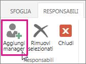 Aggiungere un manager