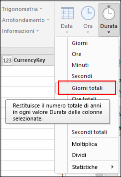 Power Query - Conversione dei valori di durata in anni