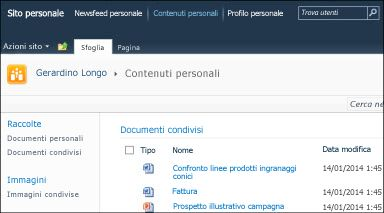 Sito personale di SharePoint 2010