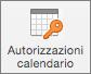 Pulsante Autorizzazioni calendario in Outlook 2016 per Mac
