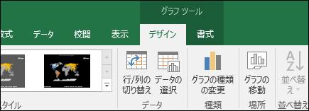 Excel マップ グラフ リボン ツール