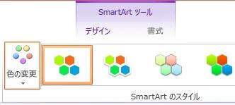 [SmartArt のスタイル] の [色の変更] ボタン