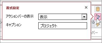 Web データシート ビューの [書式設定] ダイアログ ボックス