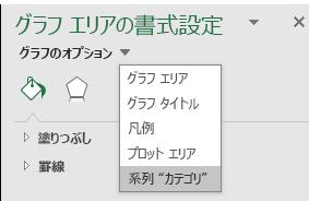Excel マップ グラフの系列オプションの選択