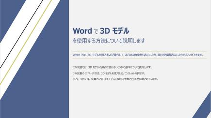3D Word テンプレート カバーのスクリーン ショット