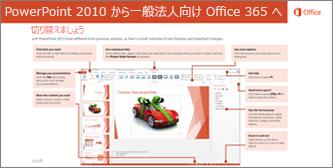 PowerPoint 2010 から Office 365 への移行ガイドのサムネイル