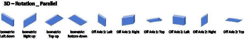 Visio でサポートされていない3D 回転の平行効果。