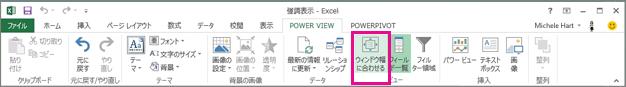 Power View のサイズ変更