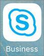 IOS アプリの Skype for Business アイコン