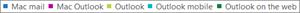 スクリーンショット:メール クライアントの一覧。メール クライアントをクリックすると、そのクライアントのレポート データがさらに取得されます。