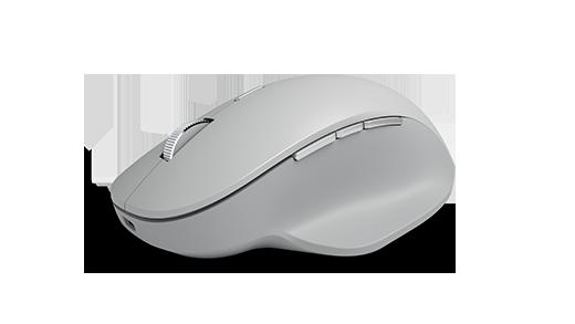 面でのサーフェスの精度マウス傾斜の側面図