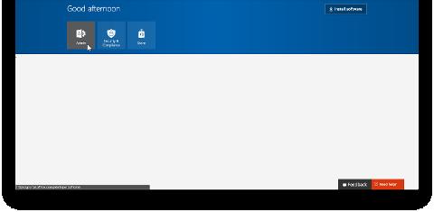Office 365 ポータルで [管理者] タイルを示しています
