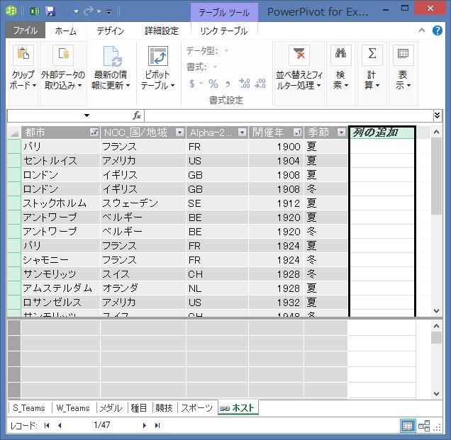 [列の追加] を使って DAX を使用して計算されたフィールドを作成する