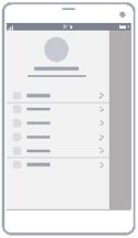 ユーザー プロファイルのワイヤーフレーム図
