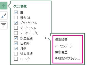 [誤差範囲] オプション