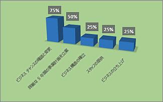 書式設定されたプロジェクト概要のレポートの達成率グラフ