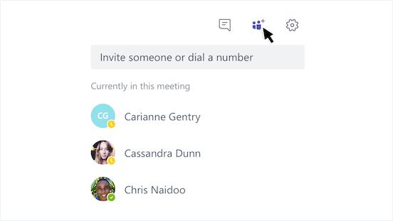 通話にユーザーを追加
