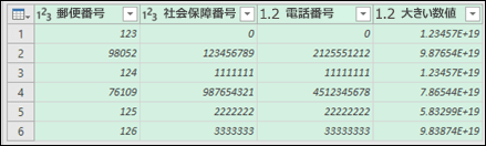 Power Query - テキストに変換した後のデータ