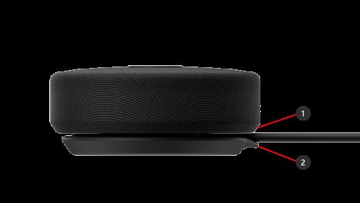 Microsoft Modern USB-C Speaker のケーブル格納部