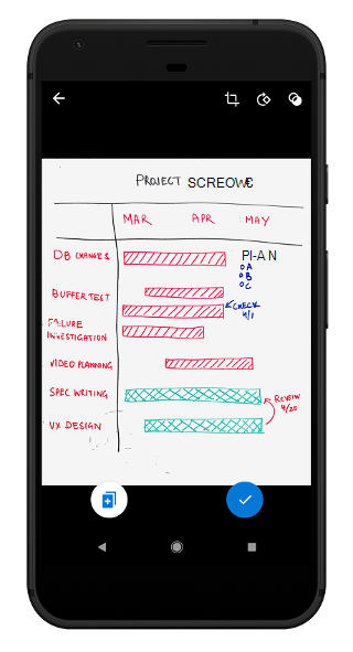 Outlook Mobile で Lens 画像を選択する