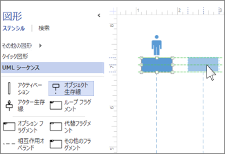UML シーケンスのライフライン