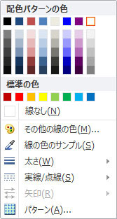 Publisher 2010 でワードアートの図形の輪郭を書式設定するオプション