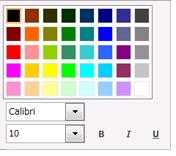 フォント変更ダイアログ ボックスのスクリーン ショット