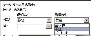 データ バーの設定を書式設定する