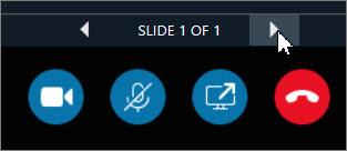 スライドを進めるには方向キーをクリックします