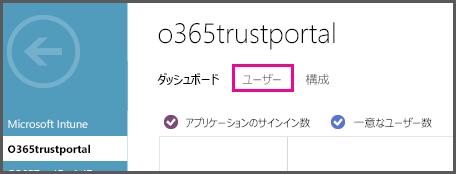 ユーザーが強調表示された Azure AD メニューを表示します。