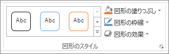 PowerPoint の [図形のスタイル] グループ