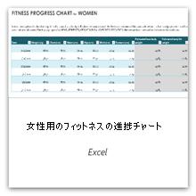 これを選択すると、健康状態の進捗を示すグラフの女性用テンプレートが表示されます。