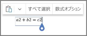 数式の数学のオプションを表示する