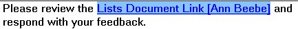 Shift キーを押しながら方向キーを押してリンク テキストを強調表示する