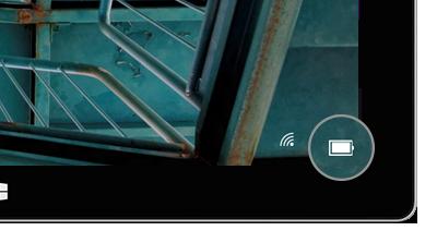 ロック画面に表示されたバッテリー アイコン