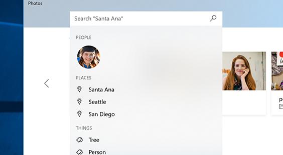 フォト アプリで検索を使ってすばやく写真を見つける