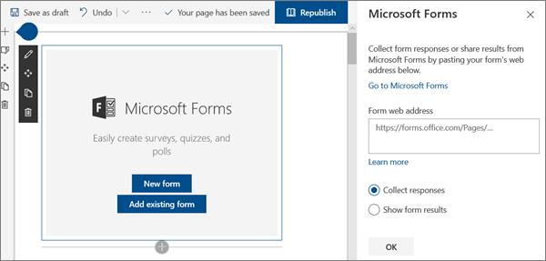 SharePoint Online の最新のワークショップサイトのサンプルのフォーム web パーツ