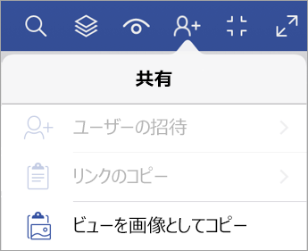 iPad 版 Visio Viewer の共有オプション