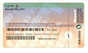 コンピューターの製造元の Certificate of Authenticity とプロダクト キー