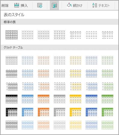 Android の表テンプレート