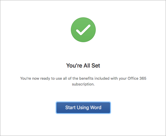Word 2016 for Mac の使用を開始する