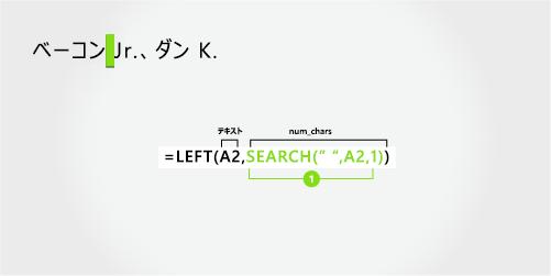 数式を分離する最後の名前し、サフィックスを最初に、カンマで