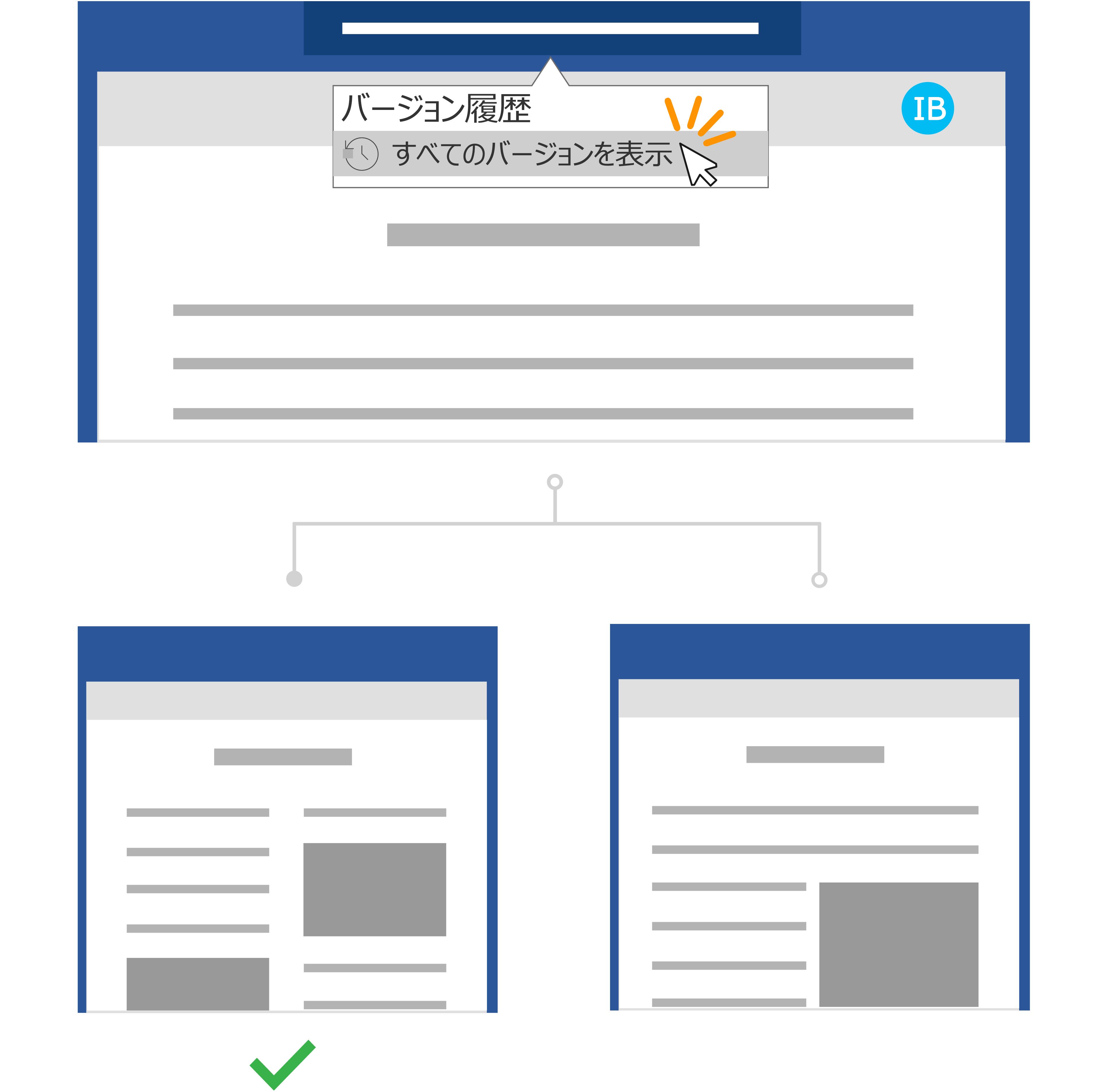 同じファイル サイド バイ サイドの 2 つのバージョンを使用します。