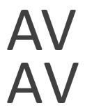 カーニングが適用された文字 (上) と適用されない文字の比較
