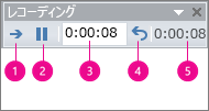 PowerPoint の [記録] ボックス