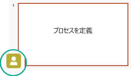 スライドの縮小表示ウィンドウのプレゼンス インジケーター